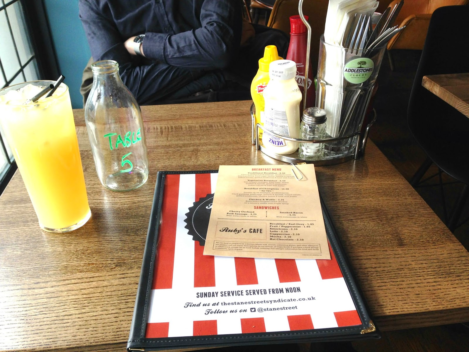breakfast review ruby jean's diner clapham common