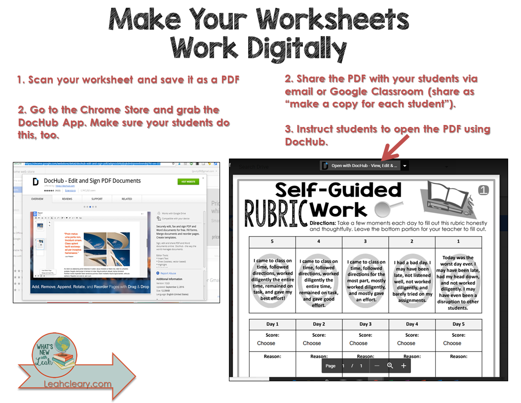 Make Your Worksheets Work Digitally - Leah Cleary: Secondary ...