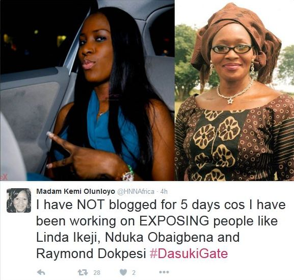 Image result for kemi olunloyo and linda ikeji
