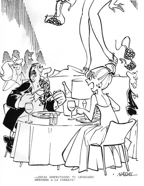 Nadal dibujó chistes para la revista del destape Muerde