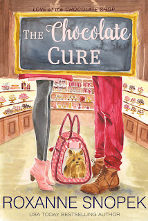 romance novel covers, contemporary romance, The Chocolate Cure by Roxanne Snopek