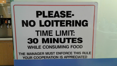McDonald's 30 Minutes Time Limit sign