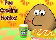 Pou Cooking Hotdog