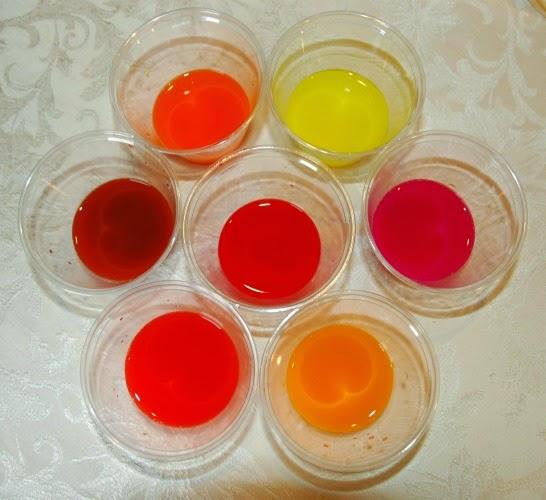 liquid watercolor in fall colors