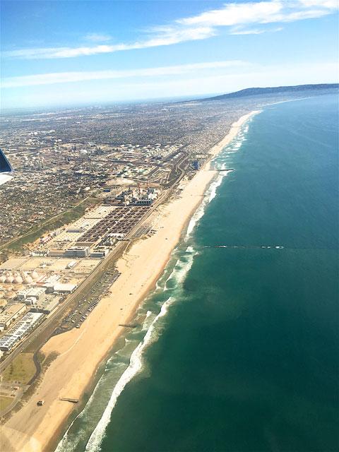 Birds Eye View leaving Los Angeles, CA