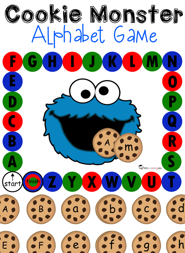 alphabet games bundle With cookie letters game