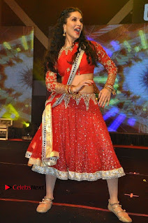 Bollywood Actress Model Sunny Leone Dance Performance in Red Half Saree at Rogue Audio Launch 13 March 2017  0075.jpg