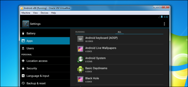 How to Install and Run Full Android OS on your PC using Oracle (VM