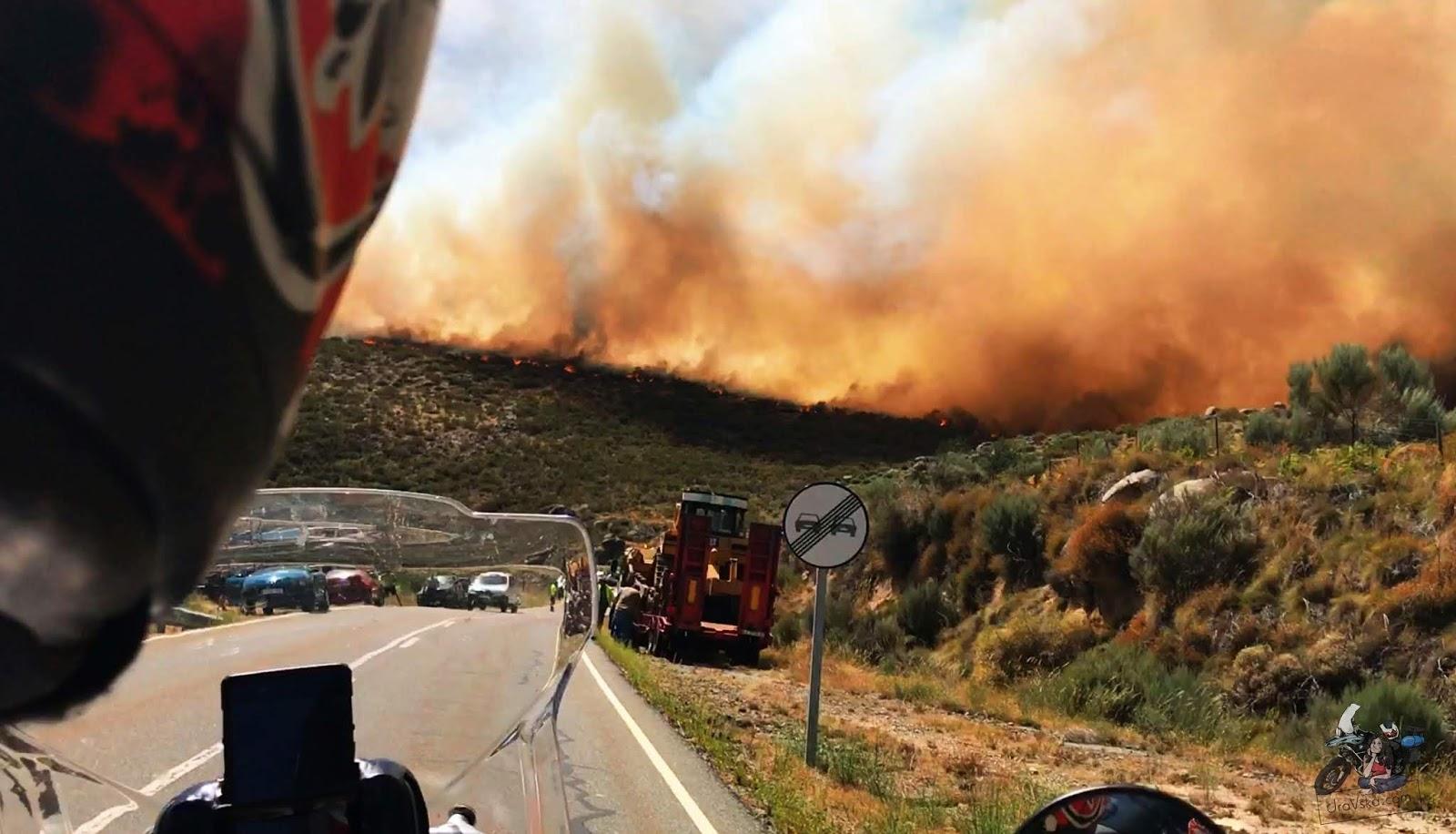 Pożary w Hiszpanii, Sierra de Gredos - MOTO EURO TRIP 2017: Z UK NA GIBRALTAR - DZIEŃ 10