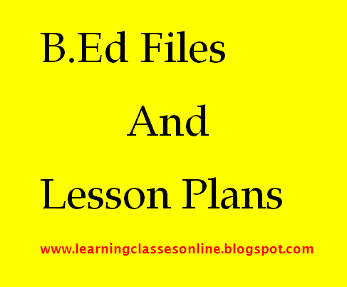 B Ed Practical Files Download PDF Free - Learning Classes Online