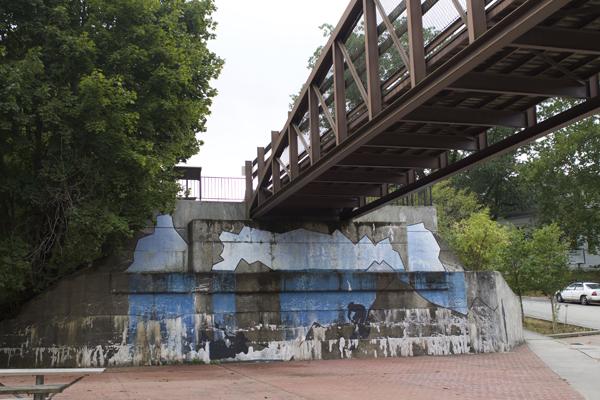 Ohiopyle State Park, Ohiopyle, Pennsylvania, Graffiti Wall
