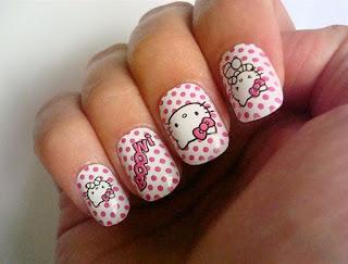 Gambar Nail Art Hello Kitty yang Cantik 3