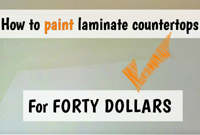 http://fixlovely.blogspot.ca/2014/07/how-to-paint-laminate-countertops-for.html