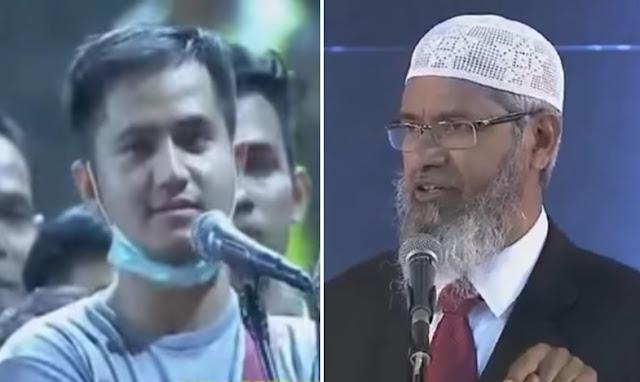 "Pertanyaan ""Anak Tuhan"" Dijawab Dr Zakir Naik dengan Brilian, Pemuda Tampan Ini Masuk Islam"