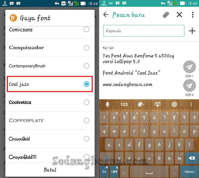 Pilih Font Android Yang Menurut Sobat Bagus Dan Menarik