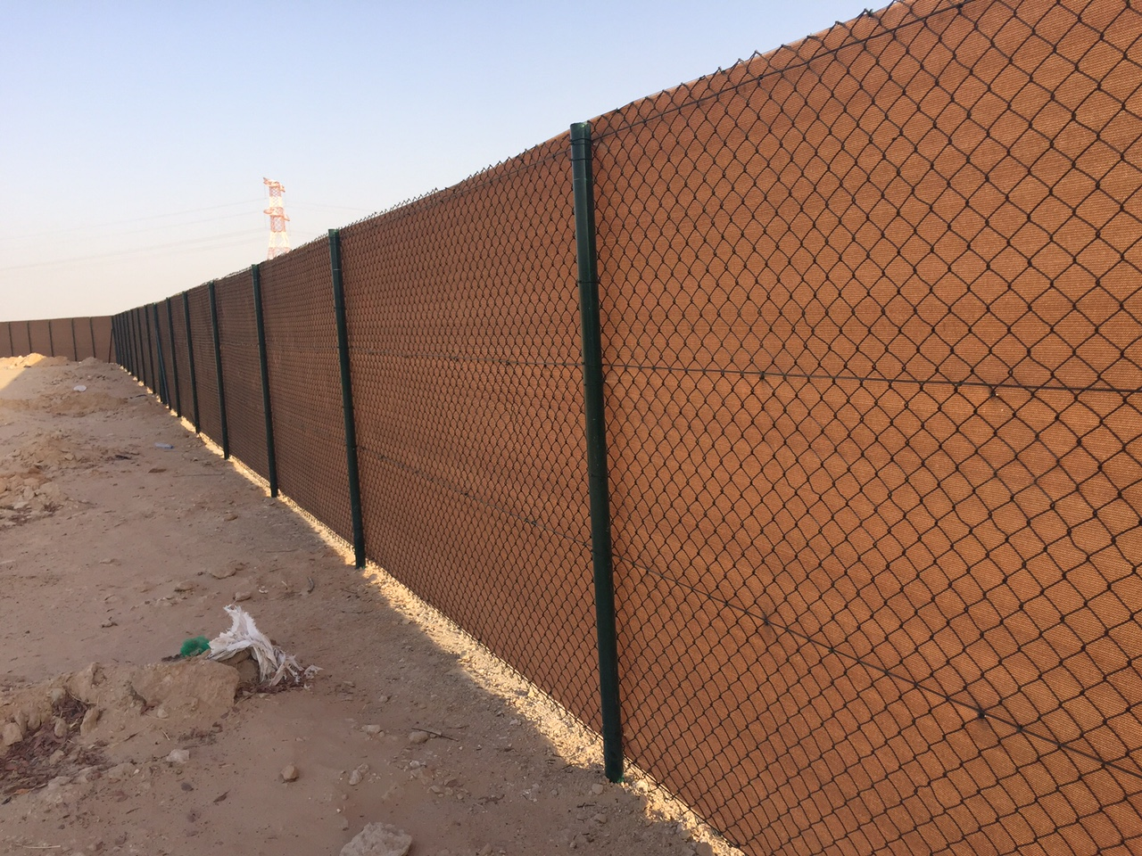 Fence with Shade Net Covering - ONE TOUCH