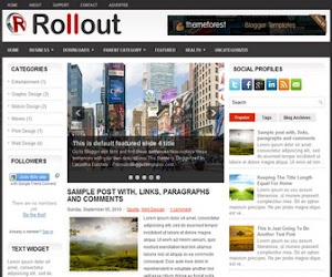 Rollout 3 Column Blogger Template