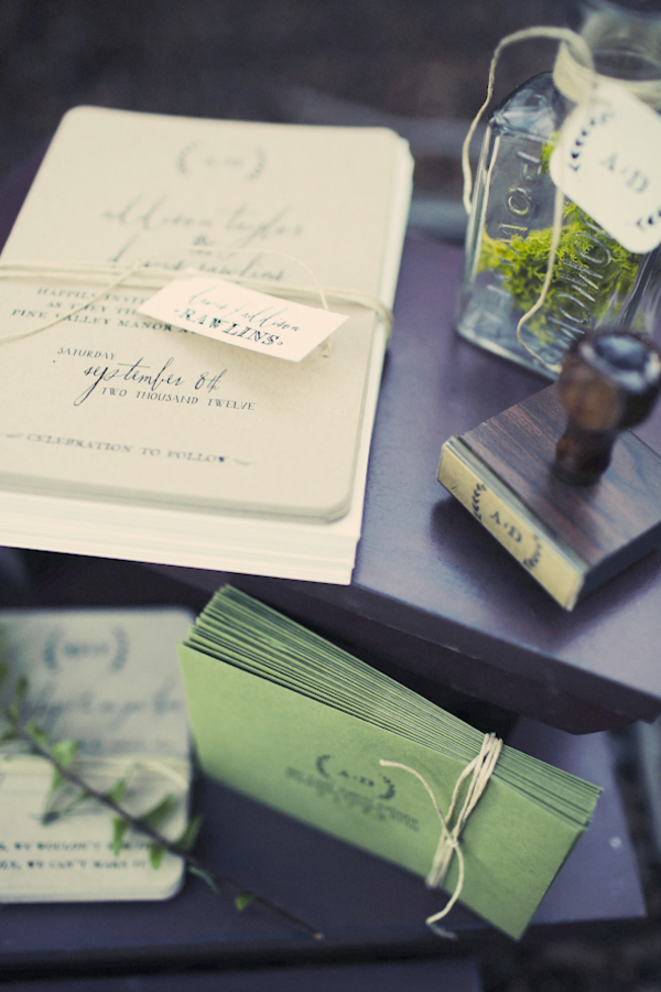 bride+groom+bridal+dress+gown+floral+hair+wreath+rustic+woodland+ecofriendly+eco+friendly+green+emerald+color+of+the+year+pantone+cake+dessert+table+reception+centerpiece+blue+hipster+fall+autumn+gideon+photography+29 - Woodland Fairytale