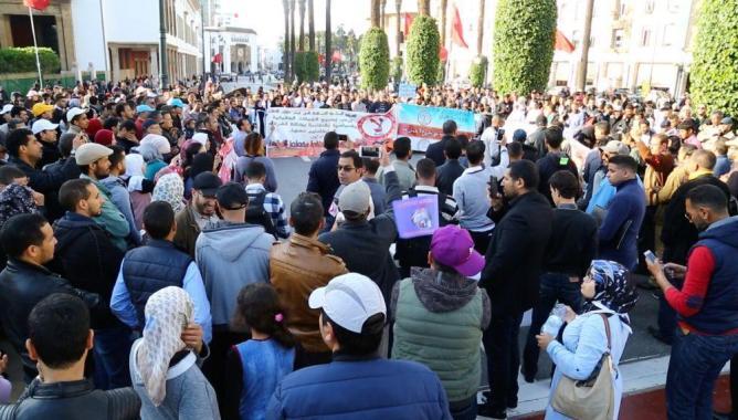 40 هيئة تحتج أمام البرلمان لإسقاط القانون الإطار ورفض فرنسة التعليم (صور)