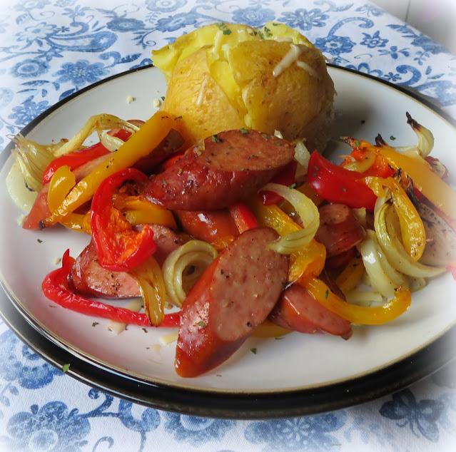 Sheet Pan Sausage & Peppers