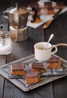 Cuadraditos de mantequilla de cacahuete con chocolate