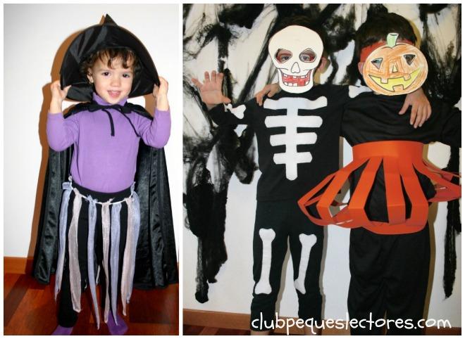 Disfraces caseros de Halloween para niños: bruja, esqueleto y calabaza