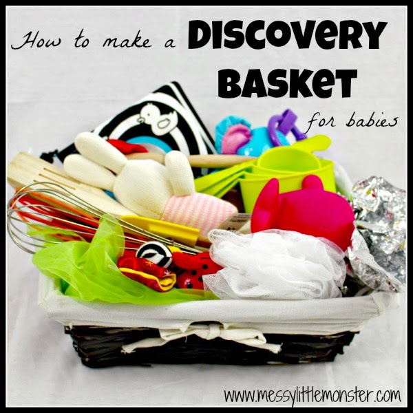How to make a discovery basket for babies to play with (also known as treasure baskets)