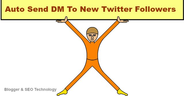 how to send auto message to twitter new followers
