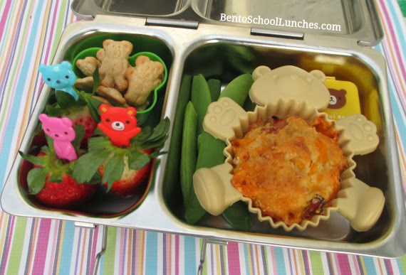 Ham and Cheese Muffin with Recipe, Bento School Lunches