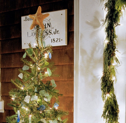 Seaglass Christmas Tree