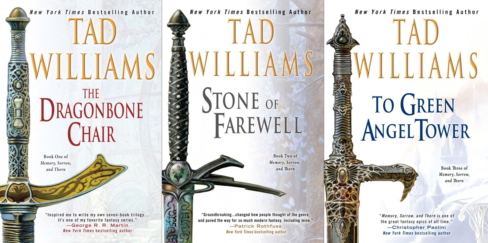 Tad Williams's Classic Memory, Sorrow And Thorn Trilogy Is Being Rejacketed  For A New American Trade Paperback Edition Being Launched Later This Year