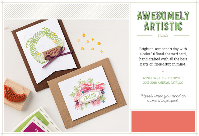 Learn how to make these gorgeous cards using the Awesomely Artistic Stamp Set from Stampin' Up!