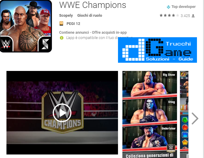 Trucchi WWE Champions Mod Apk Android v0.111