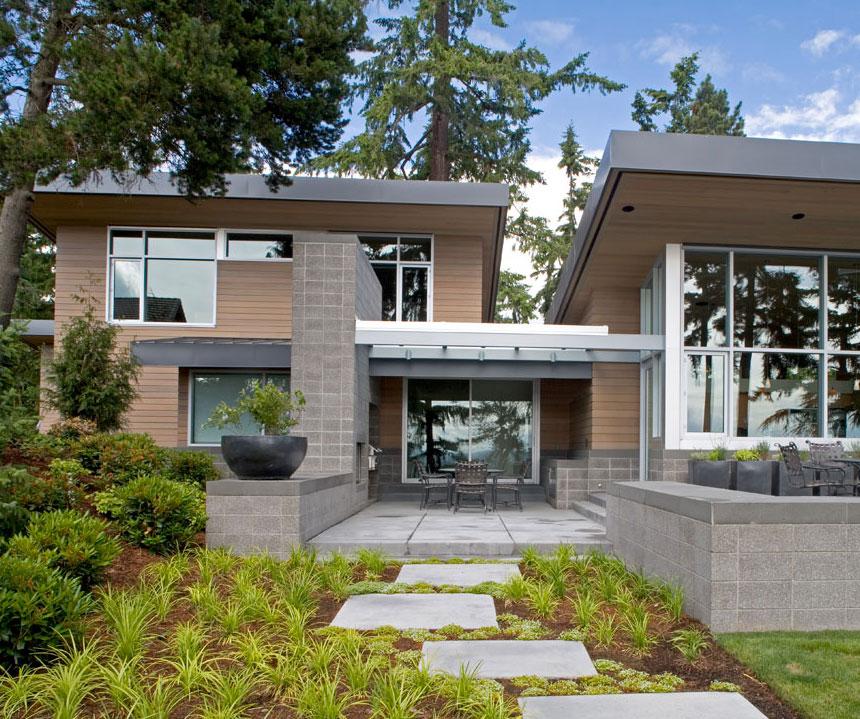 Hogares frescos acogedora y moderna casa inspirada en el for Casas modernas en washington