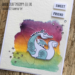 How to make a Unicorn card using the Magical Day stamp set, ink and Aqua Painters by Stampin' Up!