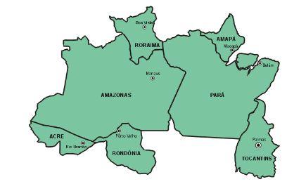 mapa norte Blog de Geografia: Mapa   Região Norte   Brasil mapa norte