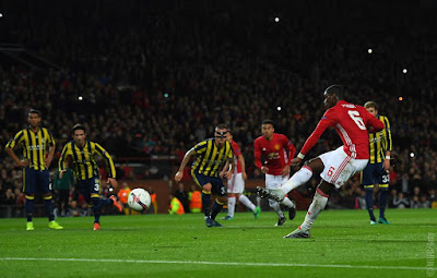 Paul Labile Pogba's spectacular first-time strike against Fenerbahce