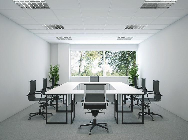 Áp dụng các gam màu sáng khi thiết kế nội thất phòng họp sang trọng diện tích nhỏ