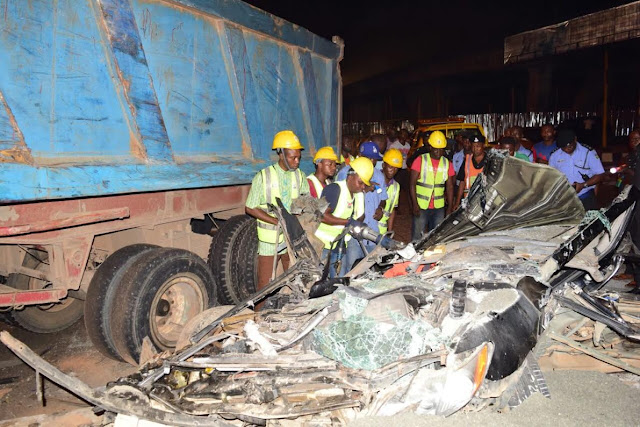 woman travelling to us dies accident surulere lagos