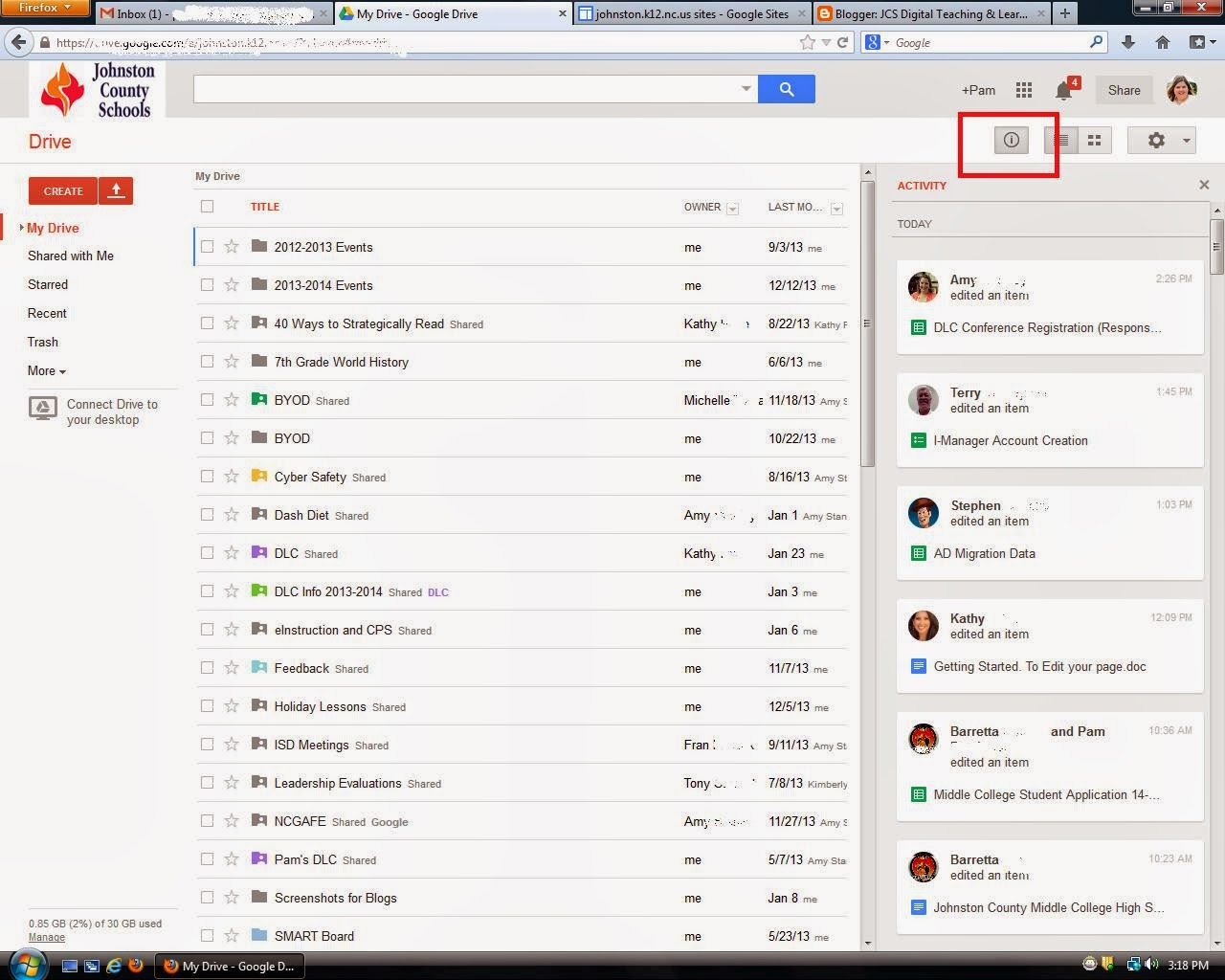 Friday Google Tidbit: Google Drive Activity Log Now Live