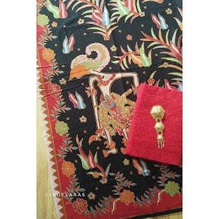 Kain Batik print wayang lama mix embos