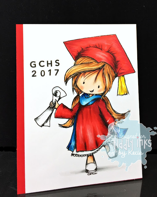 Tiddly Inks, Kecia Waters, Copic markers, graduation, Wryn