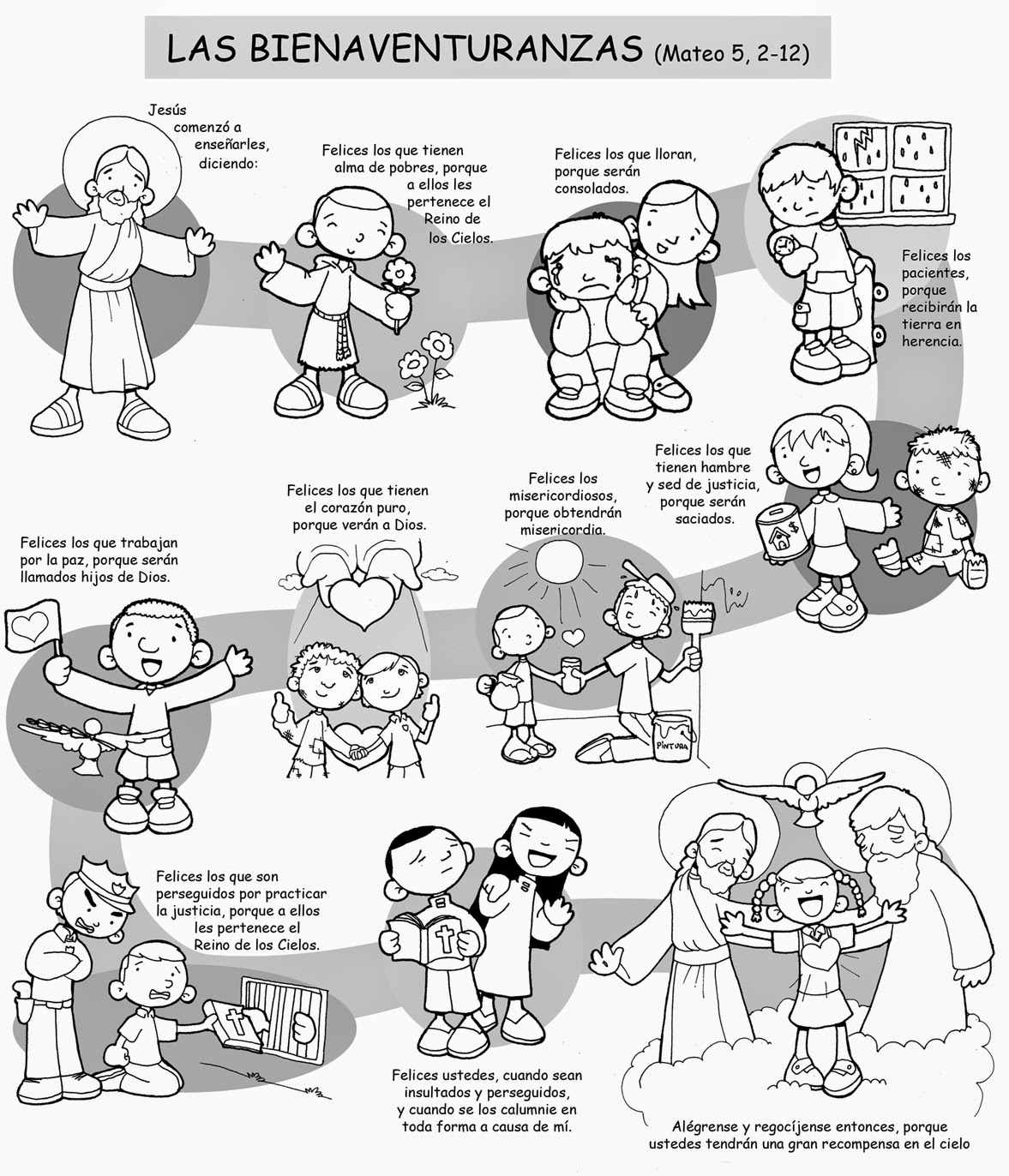 Dibujos Para Catequesis Las Bienaventuranzas Mateo 5 2 12