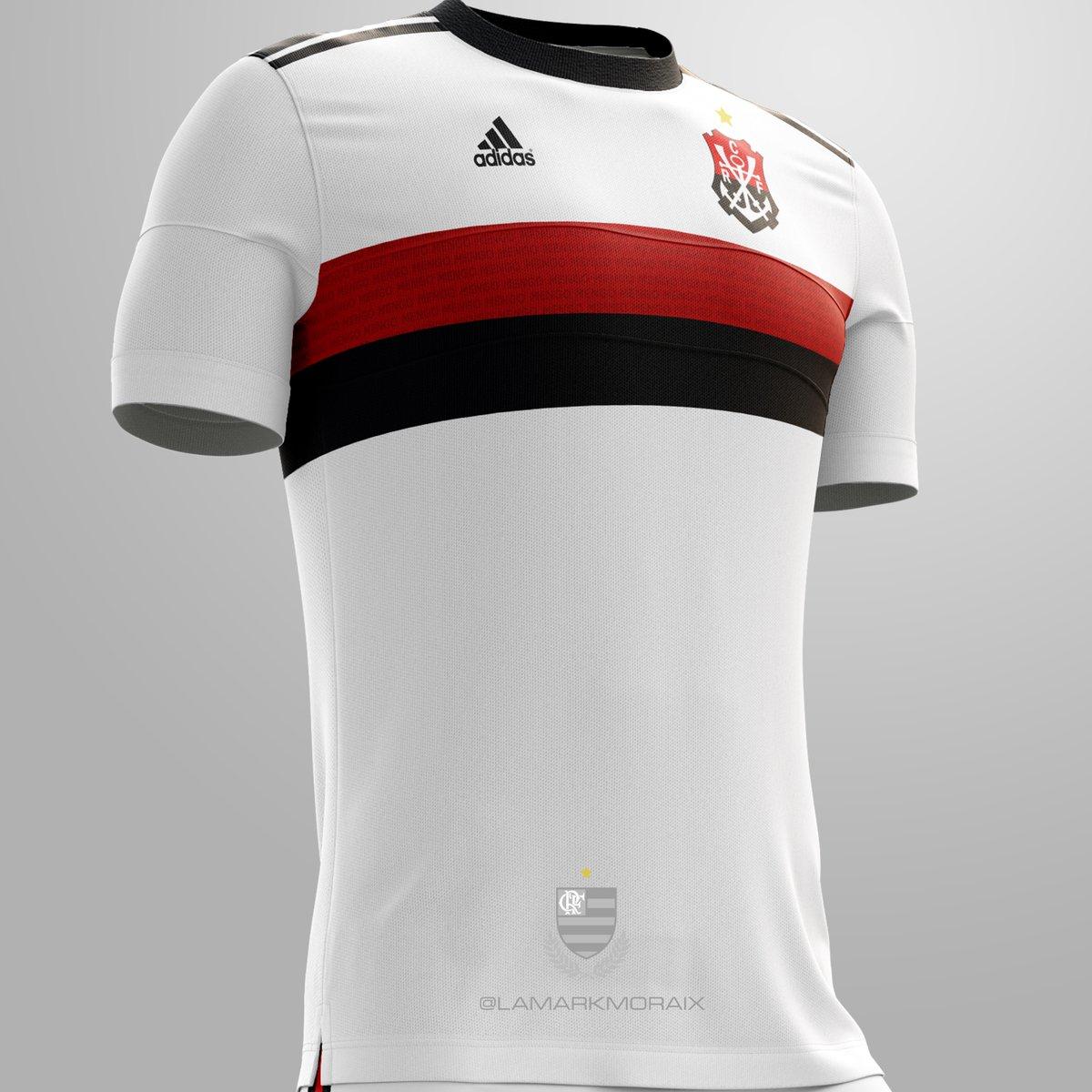 Provável camisa branco do Flamengo para 2019 - Arte   lamarkmoraix 3311a3186e5c3
