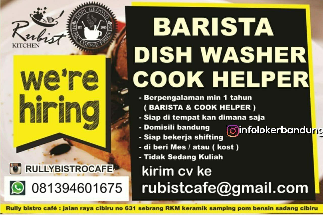 Lowongan Kerja Rully Bistro Cafe Bandung Juli 2018