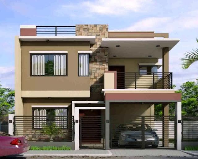 Tampak depan rumah minimalis 2 lantai type 36 - Bentuk Rumah Idaman