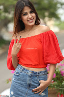 Rhea Chakraborty in Red Crop Top and Denim Shorts Spicy Pics ~  Exclusive 224.JPG
