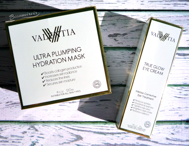 Review: Valentia True Glow Eye Cream and Ultra Plumping Hydration Mask
