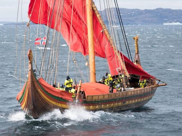 Modern-day Viking ship lands on Canadian coast