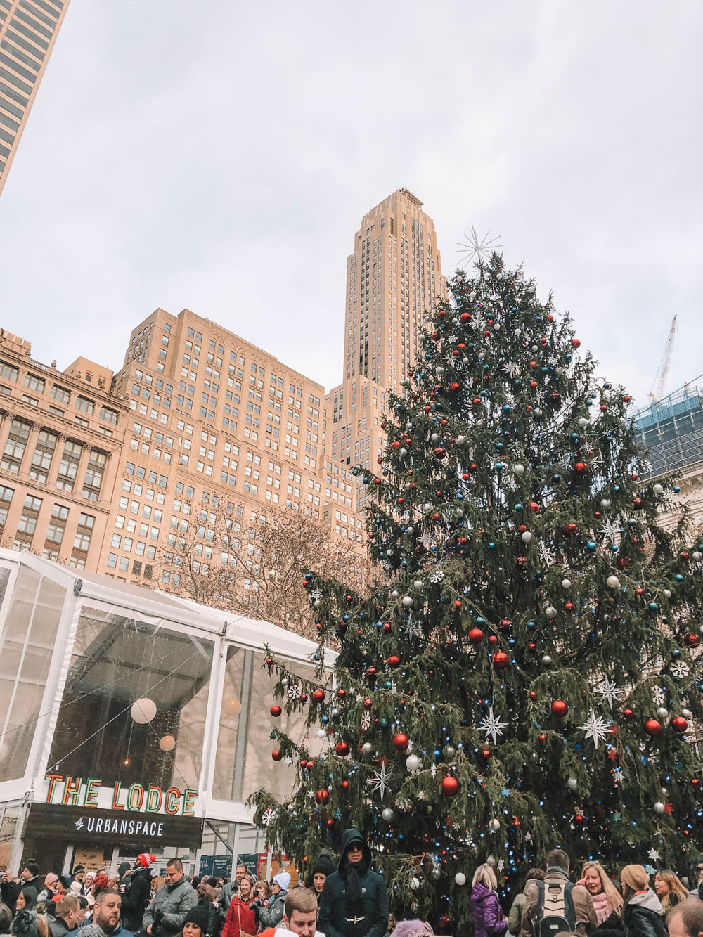 Amanda Martin of Amanda's OK Blog visits Bryant Park Winter Village in NYC